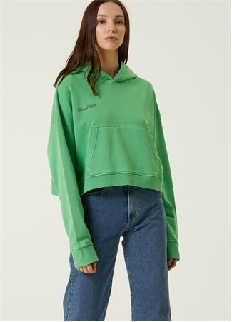 Camilla and Marc Kadın Yeşil Kapüşonlu Sweatshirt 0 US