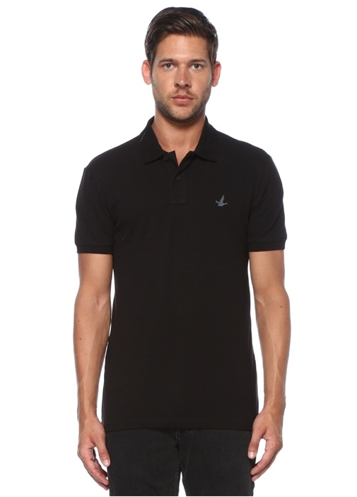 Slim Fit Siyah Polo Yaka T-shirt