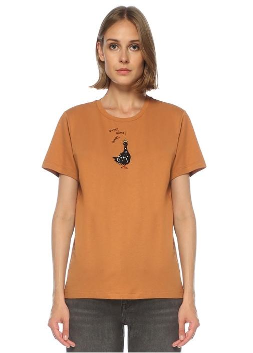 Tarçın Ördek İşlemeli T-shirt
