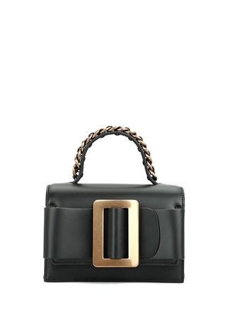 Boyy Bag Kadın Fred 9 Siyah Deri Omuz Çantası EU