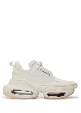 Balmain Kadın Beyaz Taban Detaylı Logolu Deri Sneaker 36 EU