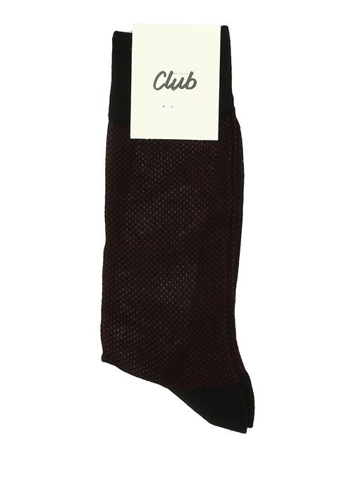 Bordo Desenli Erkek Çorap