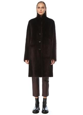 Joseph Kadın Brittany Kahverengi Çift Taraflı Deri Palto Kahverengi 36 FR