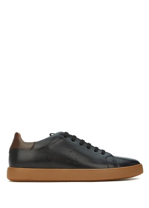 Siyah Kahverengi Erkek Deri Ayakkabı