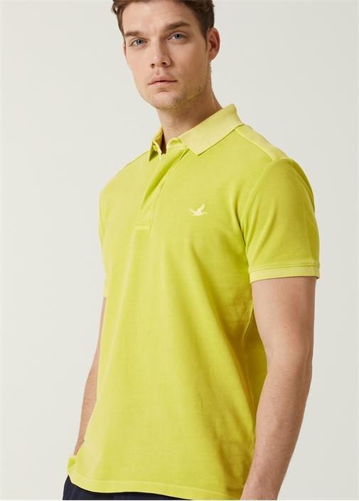 Slim Fit Neon Yeşil Polo Yaka T-shirt