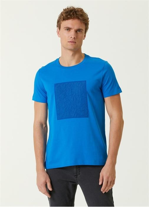 Saks Bisiklet Yaka Logolu T-shirt