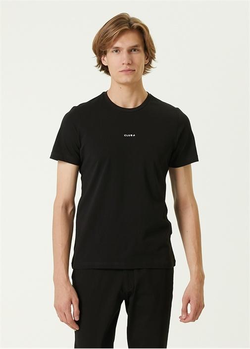Siyah Logo Detaylı Basic T-shirt