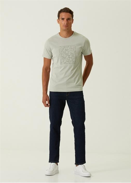 Straight Fit Lacivert Jean Pantolon