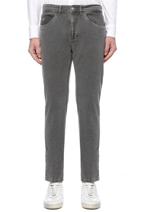 Slim Fit Gri Spor Pantolon