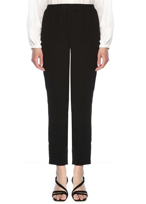 Siyah Krep Pijama Pantolon