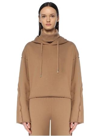 Gp Project Kadın Wild Bej Kapüşonlu Sweatshirt Kahverengi S EU