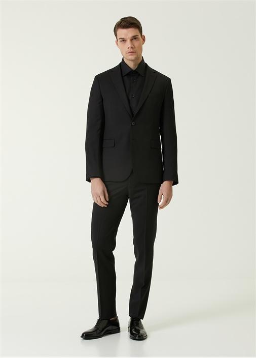 Drop 6 Siyah İnce Yün Takım Elbise