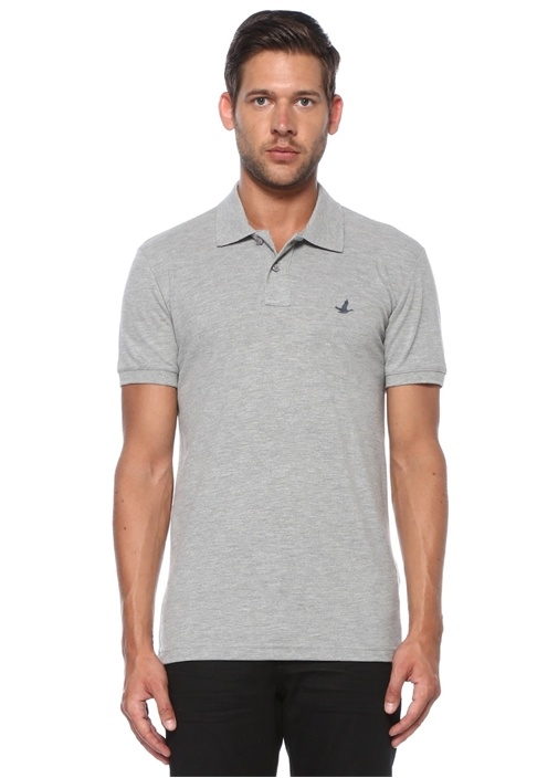 Slim Fit Gri Polo Yaka T-shirt
