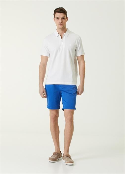 Custom Fit Beyaz Polo Yaka T-shirt