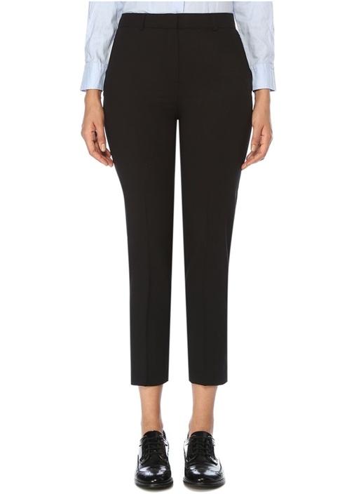 Siyah Normal Bel Klasik Cigarette Pantolon