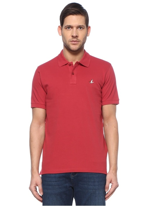 Comfort Fit Kiremit Polo Yaka T-shirt