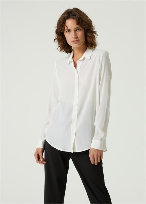 Beyaz İpek Gömlek