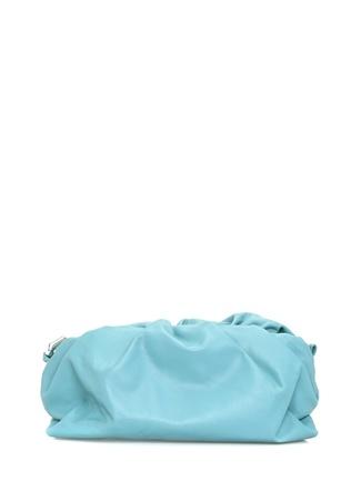 Bottega Veneta Kadın Mavi Drapeli Deri Omuz Çantası Yeşil EU