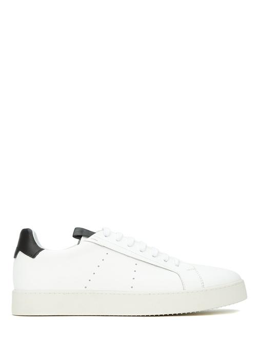 Siyah Beyaz Erkek Deri Sneaker
