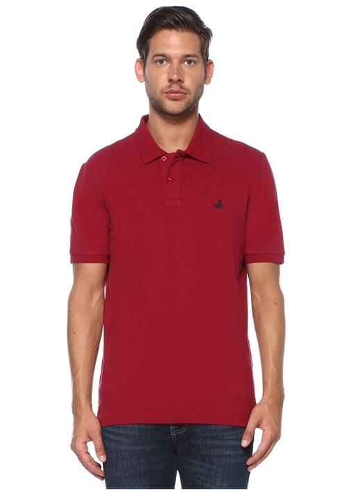 Comfort Fit Koyu Pembe Polo Yaka T-shirt