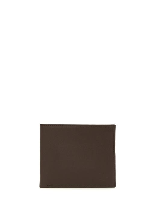 Kahverengi Logolu Erkek Deri Cüzdan