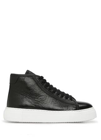 Academia Kadın Siyah Dokulu Deri Sneaker 35