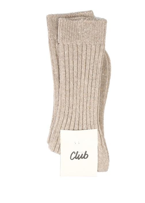 Bej Fitilli Kadın Çorap