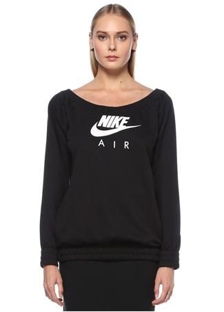 Nike Kadın NSW Air Siyah Kayık Yaka Uzun Kol T-shirt L EU