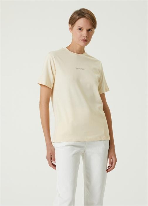 Eco Not Ego Sarı T-shirt