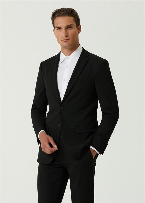 Drop 8 Siyah Kelebek Yaka Takım Elbise