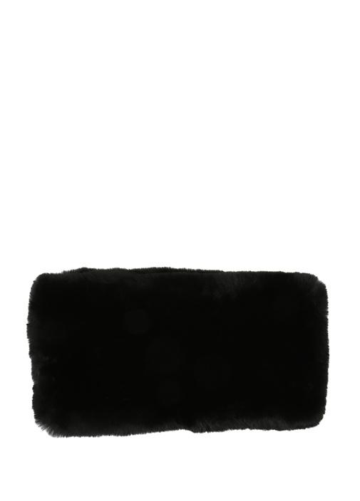 Siyah Peluş Dokulu Kadın Boyunluk