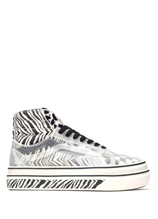 Vans Kadın Super ComfyCush SK8 Hi Skool Sneaker Siyah 36 EU