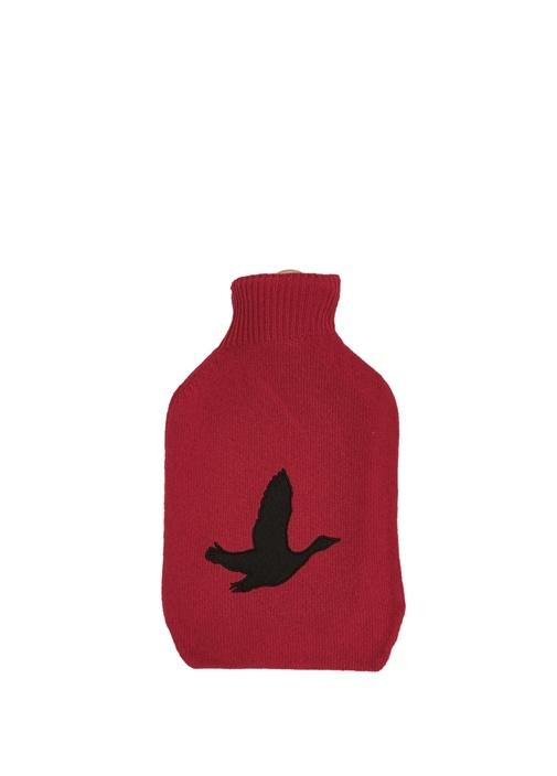 Kırmızı Kuş Patchli Yün Su Torbası