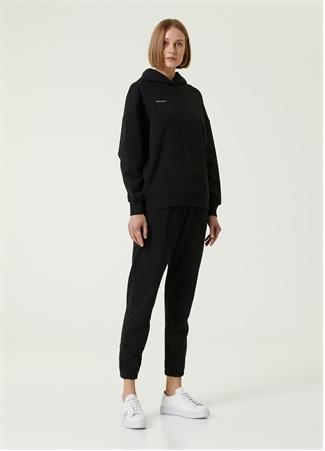 Academia Kadın Siyah Kapüşonlu Sweatshirt XS