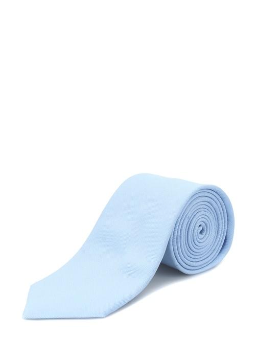 Mavi Dokulu İpek Kravat