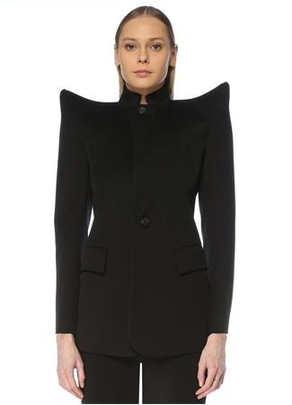 Balenciaga Kadın Siyah Vatkalı Yün Ceket 36 FR