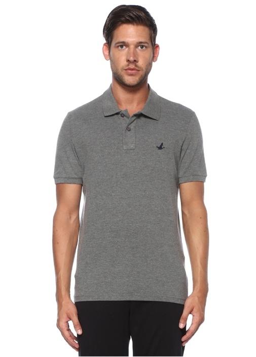 Comfort Fit Koyu Gri Polo Yaka T-shirt