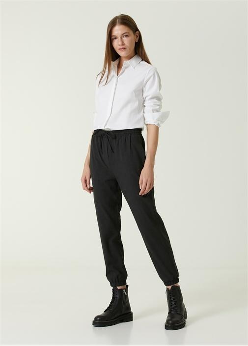 Antrasit Flanel Pijama Pantolon