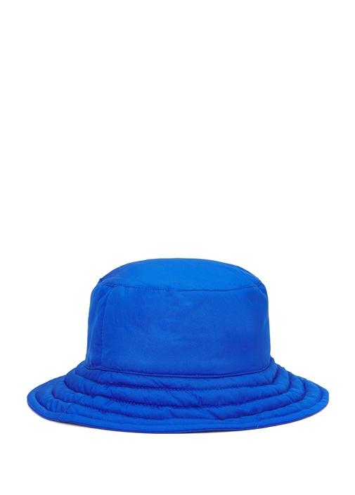 Mavi Kapitone Detaylı Kadın Şapka