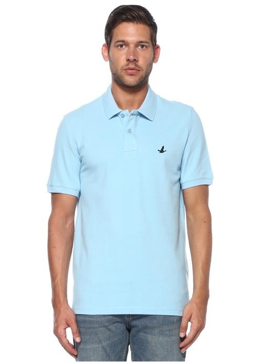 Comfort Fit Açık Mavi Polo Yaka T-shirt
