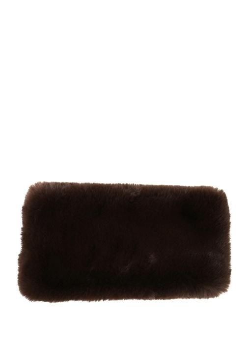 Kahverengi Peluş Dokulu Kadın Boyunluk