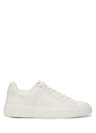 Balmain Kadın Beyaz Logolu Deri Sneaker 36 EU