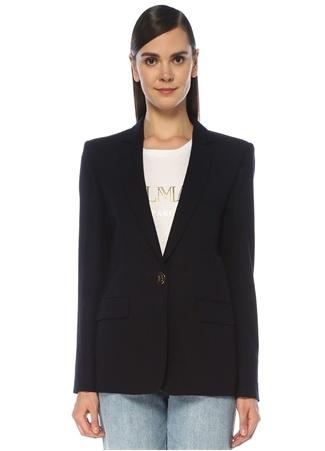 Balmain Kadın Lacivert Tek Düğmeli Blazer Ceket 42 FR