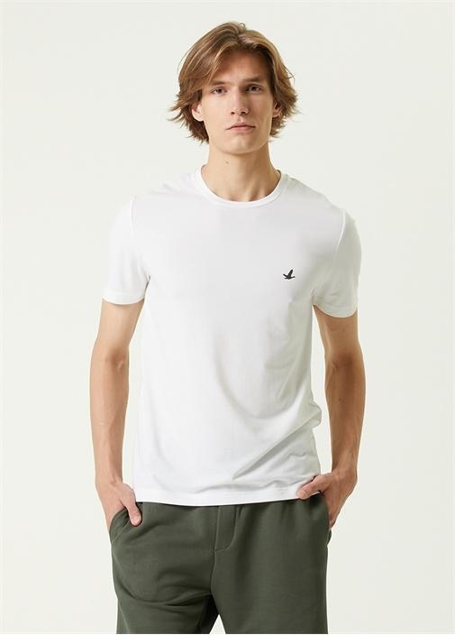 Cool Active Beyaz Logolu T-shirt