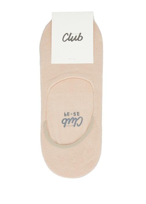 Nude Logo Jakarlı Kadın Çorap