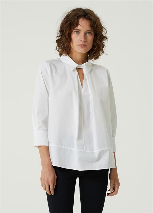 Banine Beyaz Yaka Detaylı Gömlek