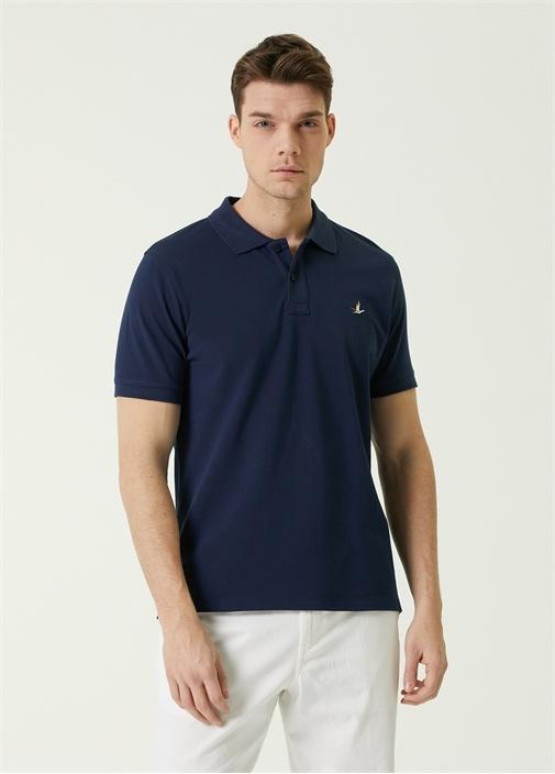 Comfort Fit Lacivert Polo Yaka T-shirt