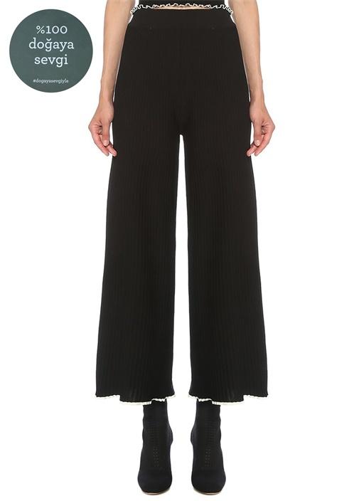 Siyah Ribli Pantolon