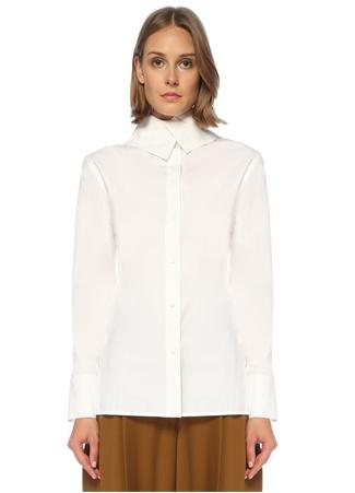 Proenza Schouler Kadın Beyaz Yaka Detaylı Gömlek 6 US