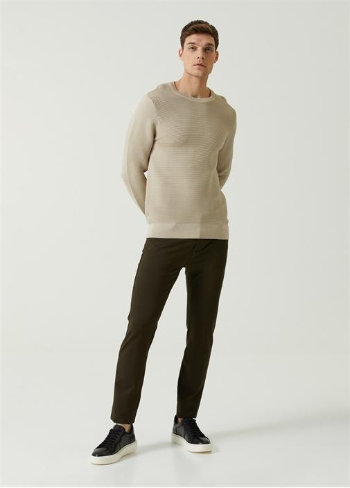 Slim Fit Haki Spor Pantolon